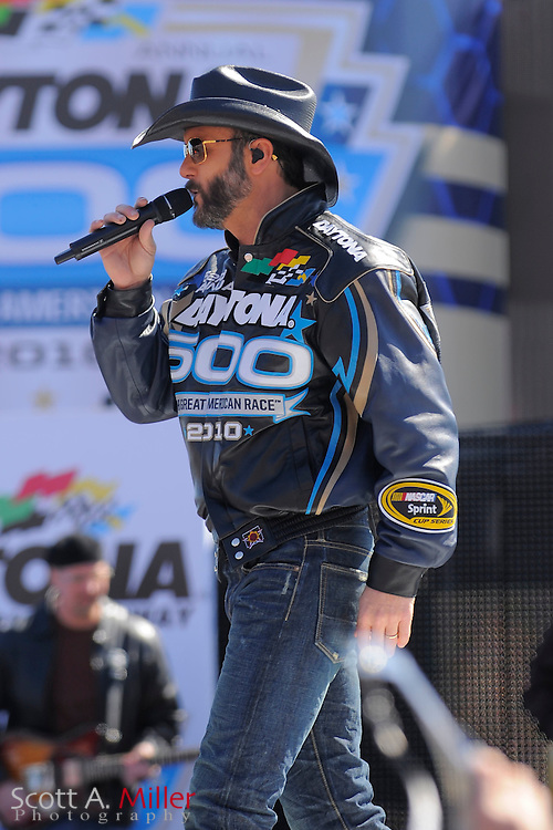 Daytona Beach, FL, USA; Tim McGraw gives a brief concert prior to the Daytona 500 at Daytona International Speedway on Feb. 14, 2010..©2010 Scott A. Miller