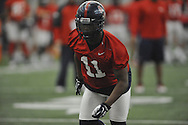 Ole Miss' Channing Ward (11) at spring practice in Oxford, Miss. on Wednesday, March 5, 2014.  (AP Photo/Oxford Eagle, Bruce Newman)