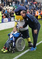 Preston North End manager Simon Grayson (R) with a fan at the final whistle - Mandatory by-line: Jack Phillips/JMP - 29/04/2017 - FOOTBALL - Deepdale - Preston, England - Preston North End v Rotherham United - Football League Championship
