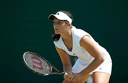 LONDON, ENGLAND - Monday, June 28, 2010: Laura Robson (GBR) during the Girls' Singles 1st Round match on day seven of the Wimbledon Lawn Tennis Championships at the All England Lawn Tennis and Croquet Club. (Pic by David Rawcliffe/Propaganda)