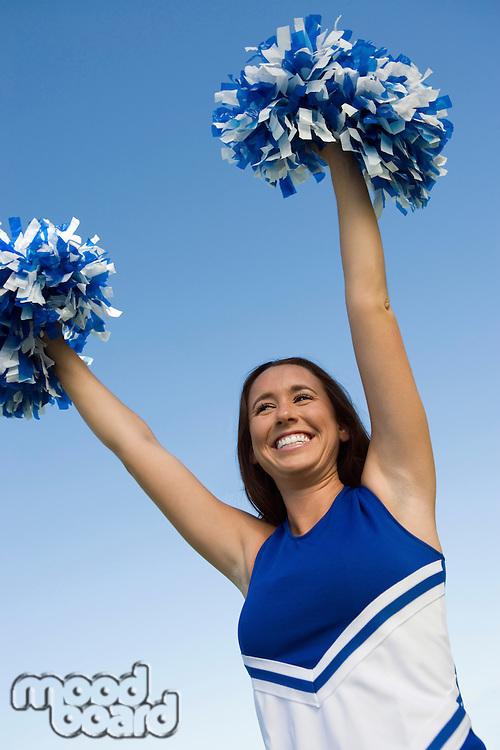 Cheerleader Peforming Cheer