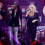 NLD/Amsterdam/20100415 - Uitreiking 3FM Awards 2010, Alain, Giovanca Desire Ostiana, Sanne Hans en Jacqueline Goveart