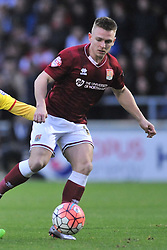 Northamptons Sam Hoskins,  Cobblers, Northampton Town v MK Dons, FA Cup 3rd Round,  Sixfields Stadium, Saturday 9th January 2016