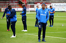 West Brom's Salomon Rondon checks out the pitch with his team mates on arrival at the Wham Stadium - Mandatory by-line: Matt McNulty/JMP - 22/08/2017 - FOOTBALL - Wham Stadium - Accrington, England - Accrington Stanley v West Bromwich Albion - Carabao Cup - Second Round