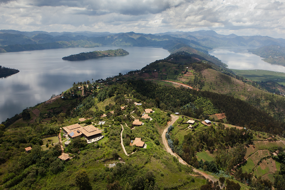 The Virunga Lodge from the air