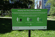 Signage in Central Park: Keeping Your Park Clean and Green