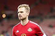 Sunderland Jan Kirchhoff  during the Barclays Premier League match between Sunderland and Manchester City at the Stadium Of Light, Sunderland, England on 2 February 2016. Photo by Simon Davies.