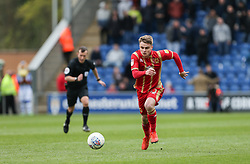 Jake Hesketh of Milton Keynes Dons runs with the ball - Mandatory by-line: Arron Gent/JMP - 27/04/2019 - FOOTBALL - JobServe Community Stadium - Colchester, England - Colchester United v Milton Keynes Dons - Sky Bet League Two
