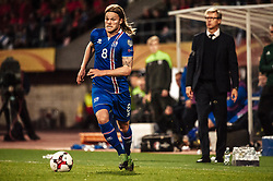 September 2, 2017 - Tampere, Finland - Iceland's Birkir Bjarnason during the FIFA World Cup 2018 Group I football qualification match between Finland and Iceland in Tampere, Finland, on September 2, 2017. (Credit Image: © Antti Yrjonen/NurPhoto via ZUMA Press)