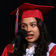 Christiana High School class president Laura Guzman gives student farewell speech during Christiana 52nd commencement exercises Monday, June 01, 2015, at The Bob Carpenter Sports Convocation Center in Newark, Delaware.