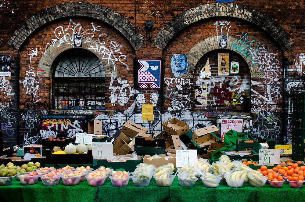 Fruit and vegetable market, Shoreditch, London