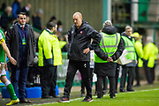 Brian Rice, manager of Hamilton Academical FC looks dejected at the final whistle during the Ladbrokes Scottish Premiership match between Hibernian FC and Hamilton Academical FC at Easter Road Stadium, Edinburgh, Scotland on 22 January 2020.