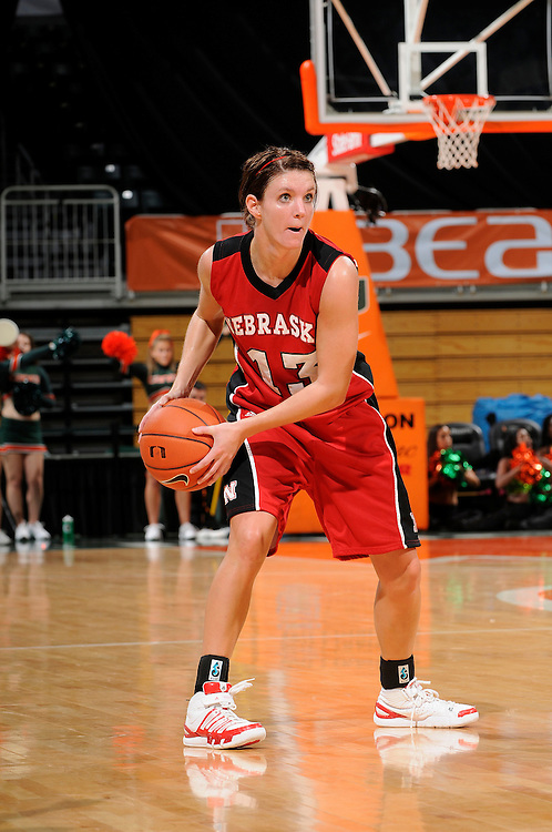 December 5, 2009: Kala Kuhlmann of the Nebraska Cornhuskers in action during the NCAA basketball game between the Miami Hurricanes and the Nebraska Cornhuskers . The Cornhuskers defeated the 'Canes 76-71.