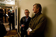 MARTIN AMIS AND JULIAN BARNES, party to celebrate the 100th issue of Granta magazine ( guest edited by William Boyd.) hosted by Sigrid Rausing and Eric Abraham. Twentieth Century Theatre. Westbourne Gro. London.W11  15 January 2008. -DO NOT ARCHIVE-© Copyright Photograph by Dafydd Jones. 248 Clapham Rd. London SW9 0PZ. Tel 0207 820 0771. www.dafjones.com.
