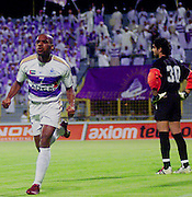 Omar Mohammed celebrates the wining goal in Presidents Cup in Dubai.