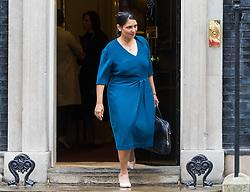 London, June 27th 2017. International Development Secretary Priti Patel leaves the weekly UK cabinet meeting at 10 Downing Street in London.