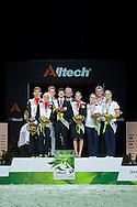 Podium Vaulting Pas de Deux - Pas de Deux Vaulting Round 2 - Alltech FEI World Equestrian Games&trade; 2014 - Normandy, France.<br /> &copy; Hippo Foto Team - Jon Stroud<br /> 05/09/2014