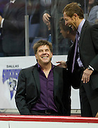 Former Dallas Sidekick player and current head coach Tatu smiles after a goal against the Rockford Rampage at the Allen Event Center on Saturday, February 9, 2013 in Little Elm, Texas. (Cooper Neill/The Dallas Morning News)
