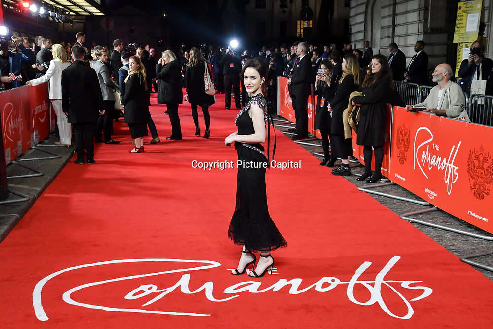 Rachel Brosnahan attend The Romanoffs - World Premiere at CURZON MAYFAIR, London, Uk. 2nd October 2018.
