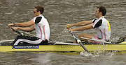 Chiswick, LONDON, ENGLAND, 25.03.2006, left Steve Rowbotham and Toby Garbutt, Leander 1, Head Crew 2006, 2006 Head of the River Race. Mortlake to Putney. © Peter Spurrier/Intersport-images.com. 2006 Men's Head of the River Race, Rowing Course: River Thames, Championship course, Putney to Mortlake 4.25 Miles 2006 Men's Head of the River Race, Rowing Course: River Thames, Championship course, Putney to Mortlake 4.25 Miles