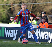 Crystal Palace Barry Bannan on there ball during the The FA Cup Third Round match between Dover Athletic and Crystal Palace at Crabble Athletic Ground, Dover, United Kingdom on 4 January 2015. Photo by Phil Duncan.