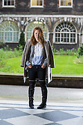 Carolyn Asome Times Fashion Editor poses with thigh high boots  on Friday 24, October 2014.<br /> <br /> <br /> Photos by Ki Price