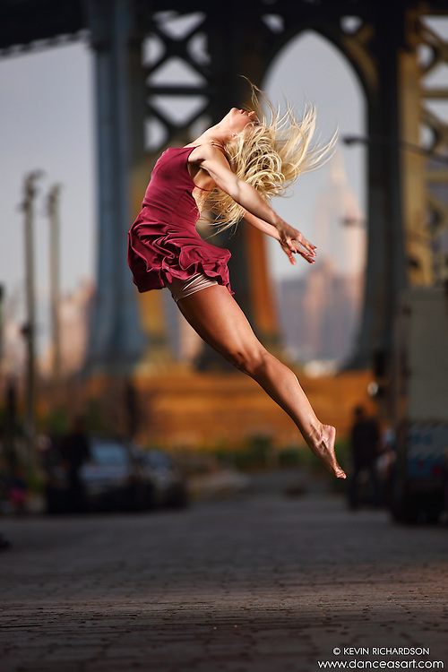 Dance As Art Streets of Dumbo Series with dancer Jenny Bohlstrom.