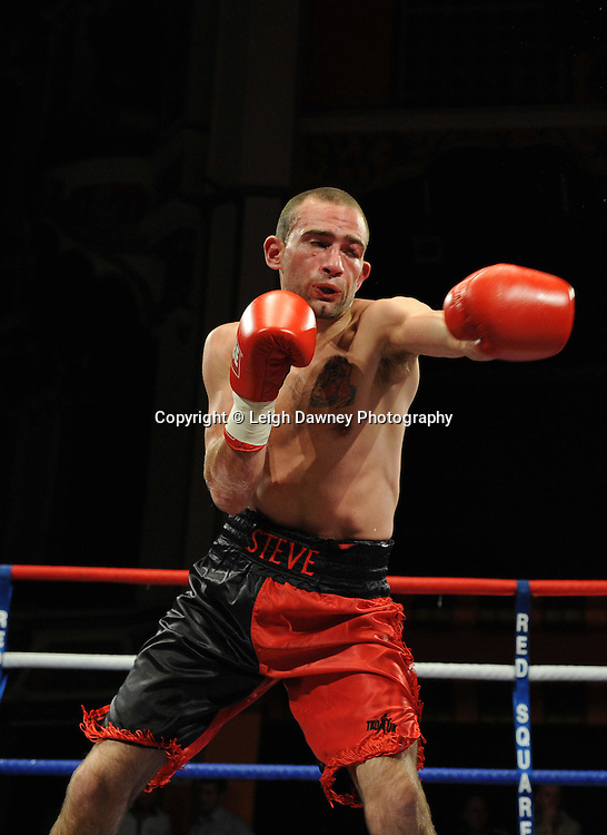 John Quigley defeats Steve Gethin (pictured) in a Super Featherweight contest at Olympia, Liverpool on the 11th June 2011. Frank Maloney Promotions.Photo credit: Leigh Dawney 2011