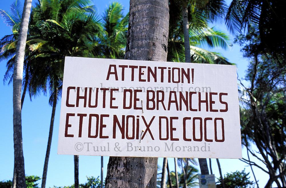 France, Département d'Outre mer de la Guadeloupe (DOM), Marie Galante, Capesterre, La plage de la Feuillière