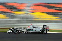 23.10.2010, Korea International Circuit, Yeongam, KOR, F1 Grandprix of Korea, im Bild Michael Schumacher (GER), Mercedes GP, EXPA Pictures © 2010, PhotoCredit: EXPA/ InsideFoto/ Hasan Bratic *** ATTENTION *** FOR AUSTRIA AND SLOVENIA USE ONLY!