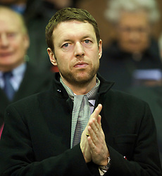 LIVERPOOL, ENGLAND - Sunday, December 13, 2009: xxxx, husband of Liverpool FC's new solicitor Natalie Wignall, during the Premiership match at Anfield. (Photo by: David Rawcliffe/Propaganda)