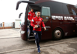 Bailey Wright of Bristol City arrives at Barnsley - Mandatory by-line: Robbie Stephenson/JMP - 30/03/2018 - FOOTBALL - Oakwell Stadium - Barnsley, England - Barnsley v Bristol City - Sky Bet Championship