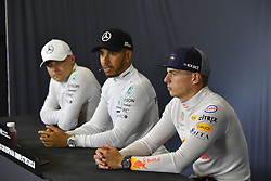 May 13, 2018 - Barcelona, Spain - Motorsports: FIA Formula One World Championship 2018, Grand Prix of Spain, .#33 Max Verstappen (NLD, Aston Martin Red Bull Racing), #44 Lewis Hamilton (GBR, Mercedes AMG Petronas Motorsport), #77 Valtteri Bottas (FIN, Mercedes AMG Petronas Motorsport) (Credit Image: © Hoch Zwei via ZUMA Wire)