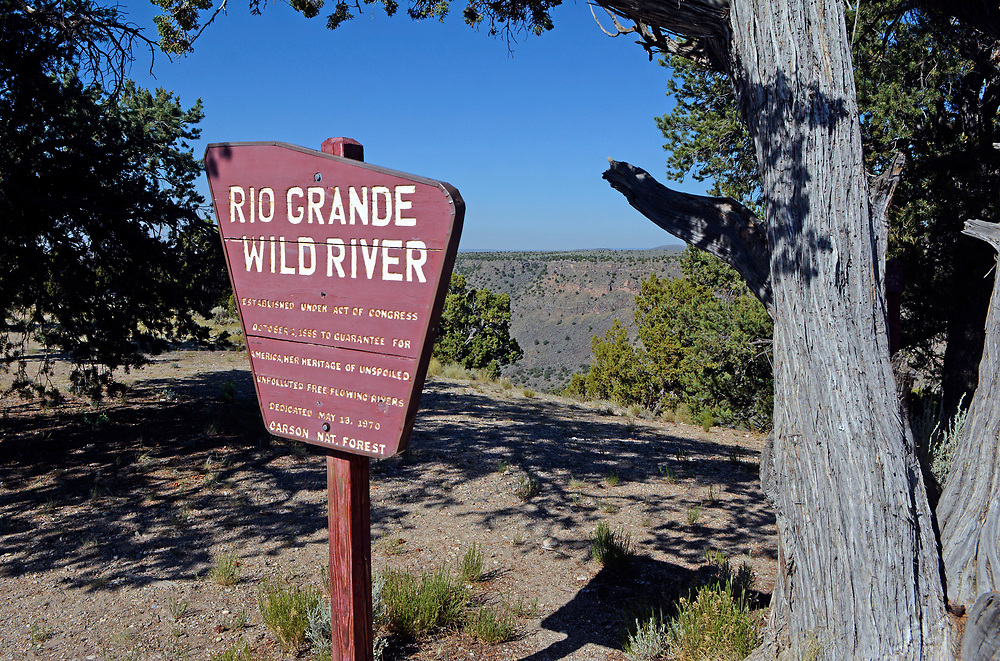 jt062917g/ a sec/jim thompson/ The trail head for Cebolla Mesa is the area of the Rio Grande Wild River established by congress in 1988.  Thursday June. 29, 2017. (Jim Thompson/Albuquerque Journal)