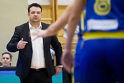 Damir Grgic, head coach of Slovenia during basketball match between National teams of Slovenia and Romania in 4. round of FIBA Women's EuroBasket 2019 Qualifiers, on February 14, 2018 in Dvorana Gimnazija Celje - Center, Slovenia. Photo by Urban Urbanc / Sportida