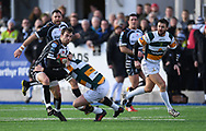 Pontypridd Dale Stuckey <br /> Photographer Mike Jones/Replay Images<br /> <br /> Principality Premiership Merthyr v Pontypridd - Saturday 17th February 2018 - The Wern Merthyr Tydfil<br /> <br /> World Copyright &copy; Replay Images . All rights reserved. info@replayimages.co.uk - http://replayimages.co.uk