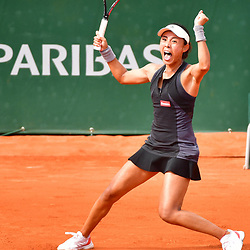 Qiang Wang during Day 1 of the the French Open at Roland Garros on May 27, 2018 in Paris, France. (Photo by Dave Winter/Icon Sport)