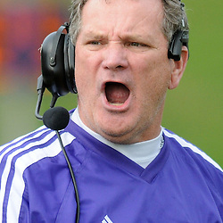 West Chester head coach Bill Zwaan yells during the game against Bloomsburg. TK4