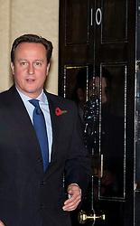 © London News Pictures. 07/11/2012. London, UK. British Prime Minister DAVID CAMERON leaving number 10 Downing Street, London on November 07, 2012. Photo credit: Ben Cawthra/LNP