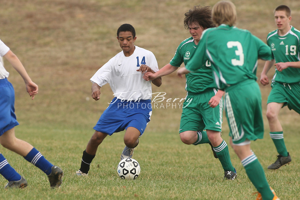 MCHS JV Boys Soccer .vs William Monroe .3/17/2009.. Madison 0.Greene 3