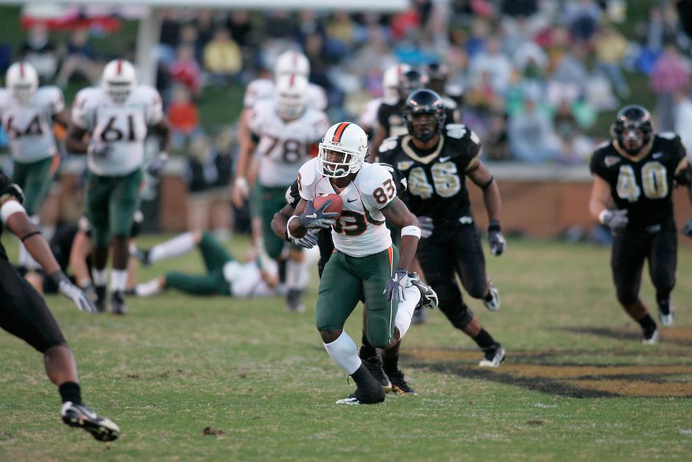 2005 Miami Hurricanes Football @ Wake Forest