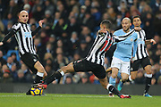 Matt Ritchie during the Premier League match between Manchester City and Newcastle United at the Etihad Stadium, Manchester, England on 20 January 2018. Photo by George Franks.