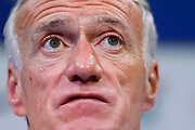 Head coach of the team of France Didier Deschamps during a press conference before the FIFA World Cup qualifying football match between Bulgaria and France, on October 2, 2017 in Clairfontaine, France - Photo Benjamin Cremel / ProSportsImages / DPPI