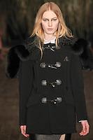 Julia Nobis walks down runway for F2012 Altuzarra's collection in Mercedes Benz fashion week in New York on Feb 10, 2012 NYC's