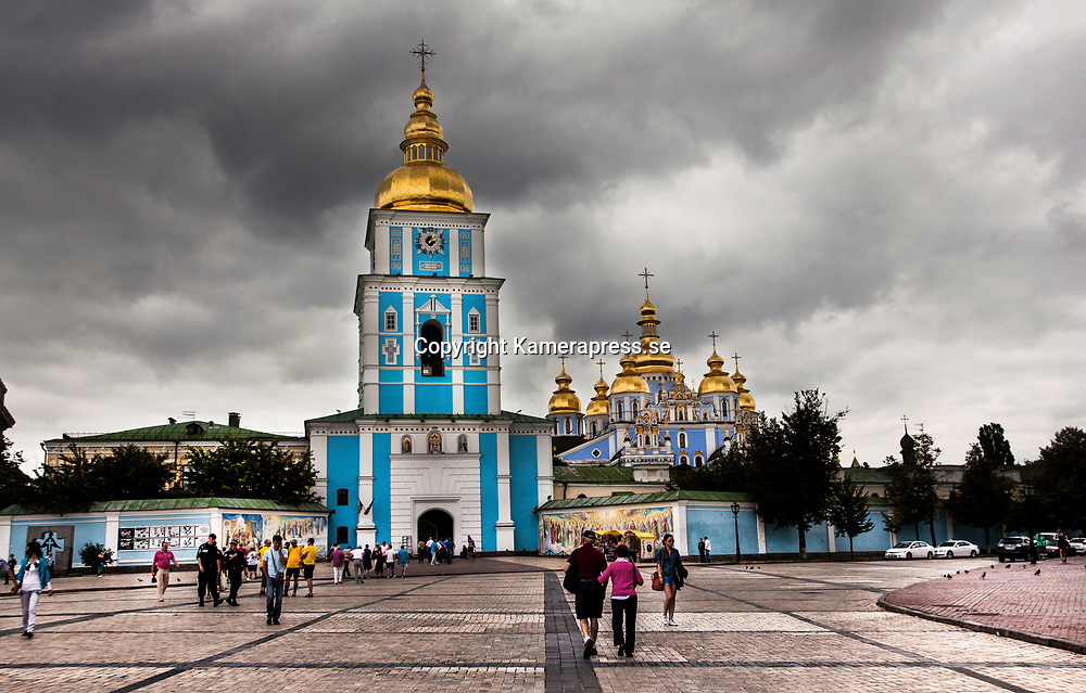 Kiev 2012 juni <br /> St michaels golden domed monastery i centrala Kiev<br /> <br /> FOTO : JOACHIM NYWALL KOD 0708840825_1<br /> COPYRIGHT JOACHIM NYWALL<br /> <br /> ***BETALBILD***<br /> Redovisas till <br /> NYWALL MEDIA AB<br /> Strandgatan 30<br /> 461 31 Trollh&auml;ttan<br /> Prislista enl BLF , om inget annat avtalas.