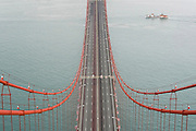25 de Abril Bridge is a suspension bridge connecting the city of Lisbon, capital of Portugal, to the municipality of Almada on the left bank of the Tagus river