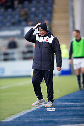 Falkirk's manager Peter Houston. <br /> Falkirk 5 v 0 Alloa Athletic, Scottish Championship game played at The Falkirk Stadium.