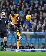 Mohamed Diame of Hull City shoots during the Sky Bet Championship match at Elland Road, Leeds<br /> Picture by Graham Crowther/Focus Images Ltd +44 7763 140036<br /> 05/12/2015