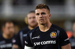 Henry Slade of Exeter Chiefs looks on prior to the match - Mandatory byline: Patrick Khachfe/JMP - 07966 386802 - 05/10/2018 - RUGBY UNION - The Recreation Ground - London, England - Bath Rugby v Exeter Chiefs - Gallagher Premiership Rugby