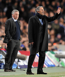 16-03-2010 VOETBAL: CHELSEA FC  - INTER MILAAN : LONDON<br /> Chelsea manager Carlo Ancelotti and Inter Milan manager Jose Mourinho<br /> ©2010- nph /  Chris Brunskill